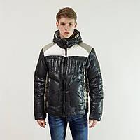 Зимний мужской пуховик Snowimage черный зимний на пуху с капюшоном, распродажа, фото 1