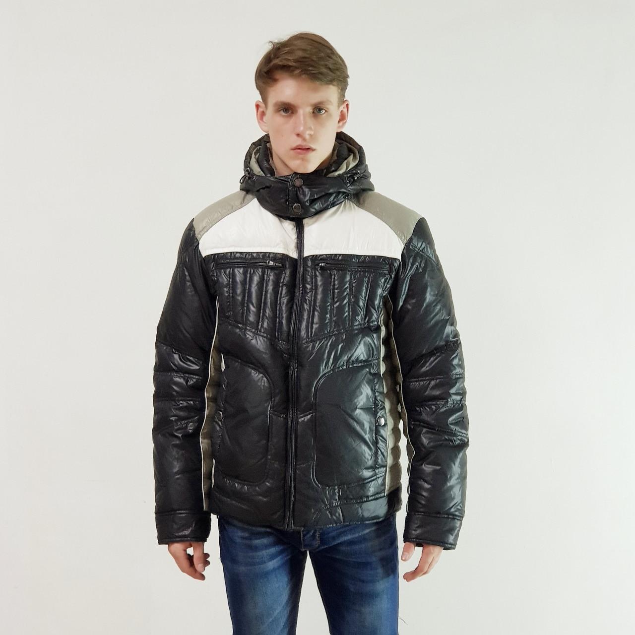 Зимний мужской пуховик Snowimage черный зимний на пуху с капюшоном, распродажа