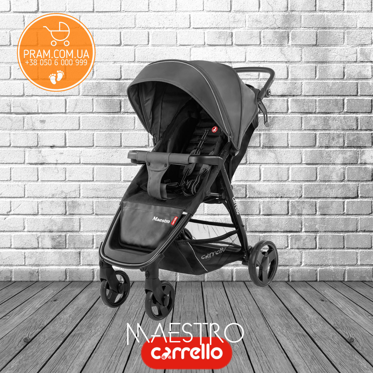 CARRELLO MAESTRO CRL-1414 прогулочная коляска Pearl Grey Темно-серый