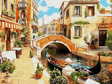Картина по номерам 30×40 см. Babylon Венецианский мостик (VK 030)
