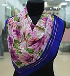 Мимолетное виденье 1407-13, павлопосадский шейный платок (крепдешин) шелковый с подрубкой, фото 2
