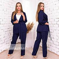 Костюм брючный женский двойка (брюки с пиджаком), р.48-50, 52-54, 56-58.Расцветки в ассортименте, код 5002С, фото 1