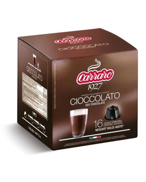 ШОКОЛАД капсулах Carraro Nescafe Dolce Gusto CIOCCOLATO 16 шт. (Нескафе Дольче Густо), Италия