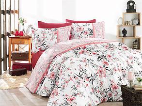 Одеяло Nazenin  satin Евро размер 195х215 см. Бело-красное