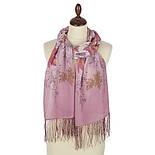 Волшебная аллея 1051-54, павлопосадский шарф шелковый крепдешиновый с шелковой бахромой, фото 2