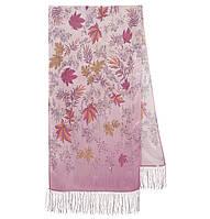 Волшебная аллея 1051-54, павлопосадский шарф шелковый крепдешиновый с шелковой бахромой, фото 1