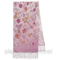 Чарівна алея 1051-54, павлопосадский шовковий шарф крепдешиновый з шовковою бахромою