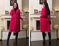 Женское кашемировое пальто на запах большого размера.Размеры:48-62.+Цвета, фото 1