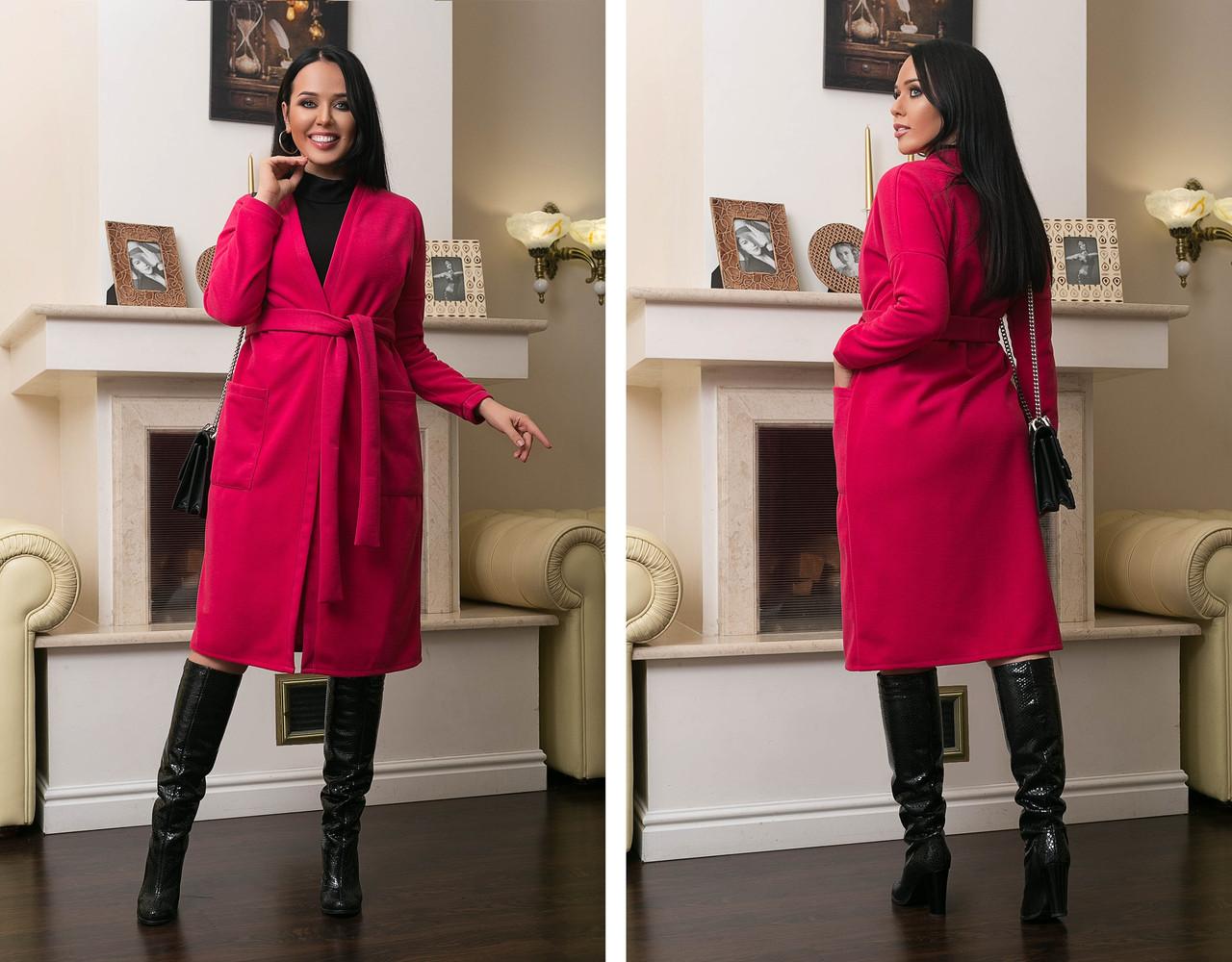 Женское кашемировое пальто на запах большого размера.Размеры:48-62.+Цвета