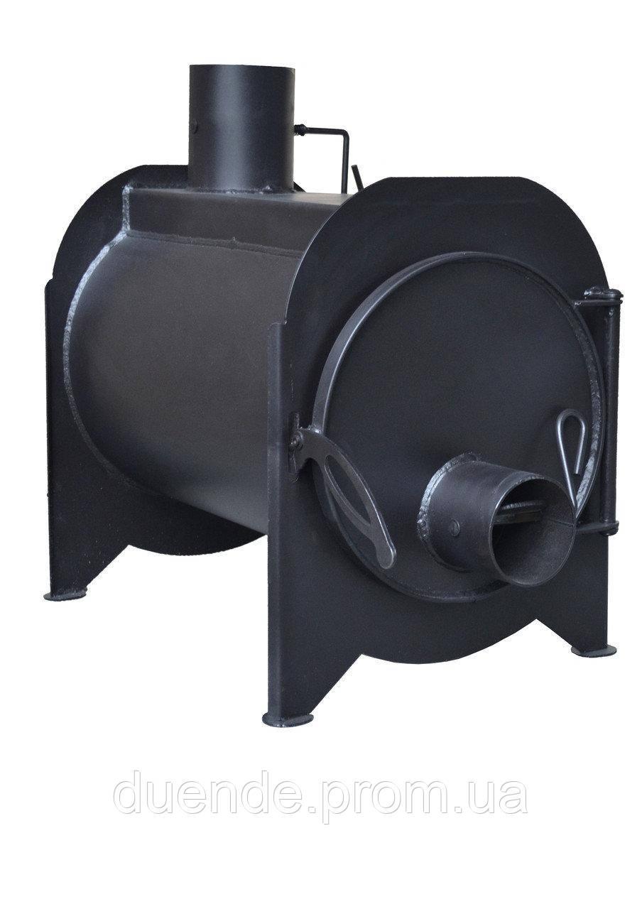 Буржуйка с камерой дожига вторичных газов KOZAK / kz - буржуйка