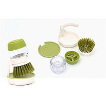 Щётка для мытья посуды с дозатором для жидкого мыла Jesopb (Реплика), фото 2