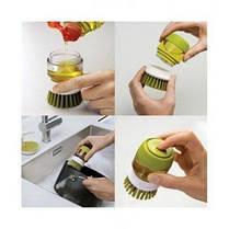 Щётка для мытья посуды с дозатором для жидкого мыла Jesopb (Реплика), фото 3