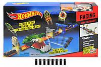 Трек запуск Hot Wheel 3091 Туннель крокодила, хот вил, 2 метал машинки