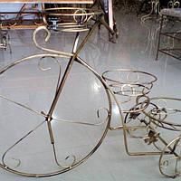 Кованая подставка для цветов Велосипед большой