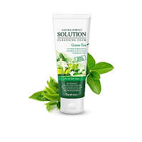 Пенка для умывания с экстрактом зеленого чая DEOPROCE Natural Perfect Solution Cleansing Foam Green Tea 170 мл