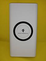 Универсальное зарядное устройство Power Bank с беспроводной зарядкой 20000mAh Белый