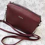 Женская сумка бордо Zara  (1536), фото 2