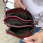 Женская сумка бордо Zara  (1536), фото 7
