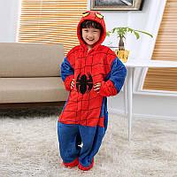 Кигуруми пижама детская Человек Паук, рост 100, 110, 140 см, фланель (велсофт)