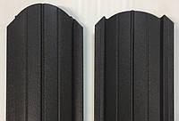 Штакет металлический 108 мм, 113 мм, RAL 8019, матовый двухсторонний
