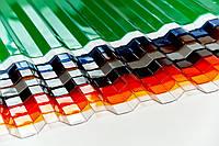 Поликарбонат профилированный (трапеция) 1050х6000, цветной