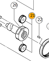 Конические шестерни (набор 2 шт) для УШМ Hitachi/HiKOKI 338352, фото 1