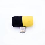 Переходник сплиттер разветвитель 2 в 1 VOLRO для iPhone X / 8 / 7 для зарядки и наушников Black (vol-409), фото 2