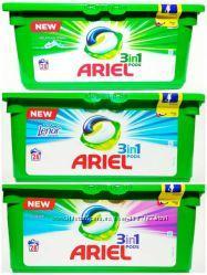 Капсули для прання Ariel 28 штук для всіх типів прання.