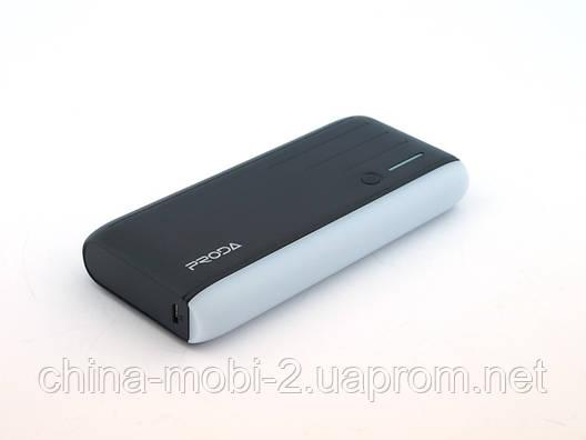 Power Bank Proda P4 PPL 12000mAh универсальная батарея с фонариком и мигалкой, фото 2