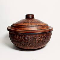 Жаровня глиняна среднеразмерная різання, 2.5 л, фото 1