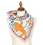 10777-1, павлопосадский платок хлопковый (батистовый) с подрубкой, фото 2