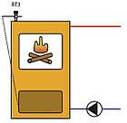 Термоcтатический регулятор мощности  REGULUS RT 4 с регулятором- цепочкой для твердотопливных котлов, фото 3