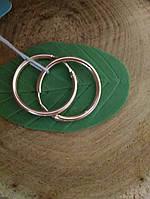 Золотые серьги кольца 585 пробы