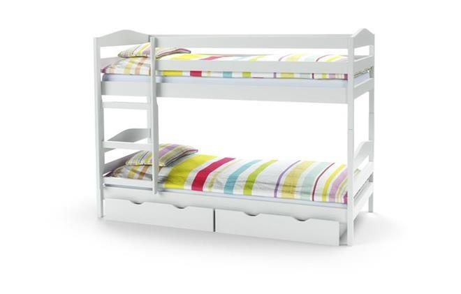 Кровать детская двухъярусная Sam(3 цвета:ольха, сосна,белый) (Halmar)