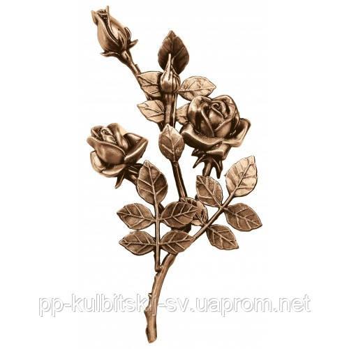 Бронзові квіти на  пам'ятник L3745/30*16