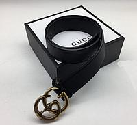 "Кожаный ремень для женщин Gucci, черный ремень ""Змея"", жіночі ремні"
