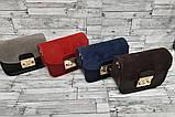 Женская Сумочка клатч экокожа и замш на плечо + кошелёк. . В расцветках, фото 2