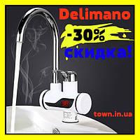 Проточный водонагреватель Delimano кран с подогревом Делимано с Led дисплеем