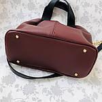 Женская сумка бордо    (3066), фото 5