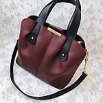 Женская сумка бордо    (3066), фото 4