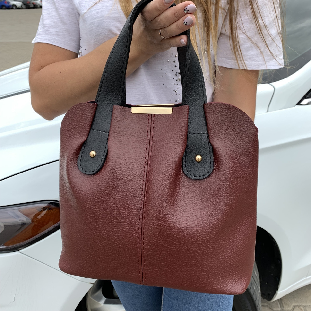 Женская сумка бордо    (3066)