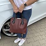 Женская сумка бордо    (3066), фото 2