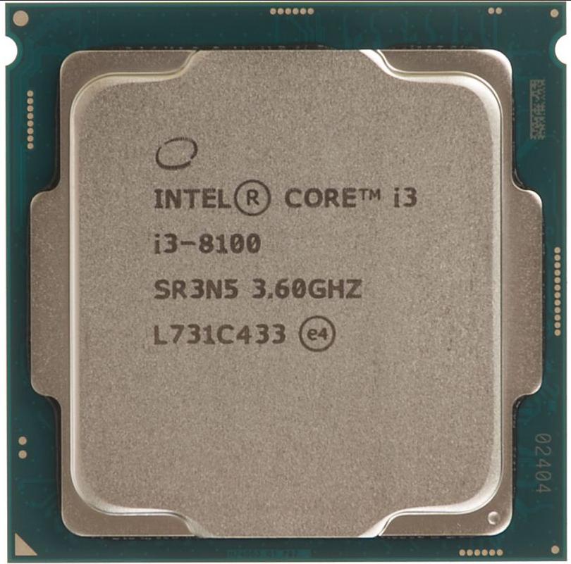"""Процессор Intel Core i3-8100 (BX80684I38100) Socket 1151 """"Over-Stock"""" Б/У"""
