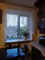 """Тюль """"Нарцисс"""" из мелкой сетки айвори шир. 1,60м высотой 1,80м"""
