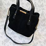 Женская сумка черная замш    (3066/1), фото 9