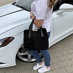 Женская сумка черная замш    (3066/1), фото 2