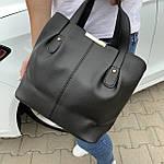 Женская сумка черная замш    (3066/1), фото 4