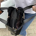 Женская сумка черная замш    (3066/1), фото 5