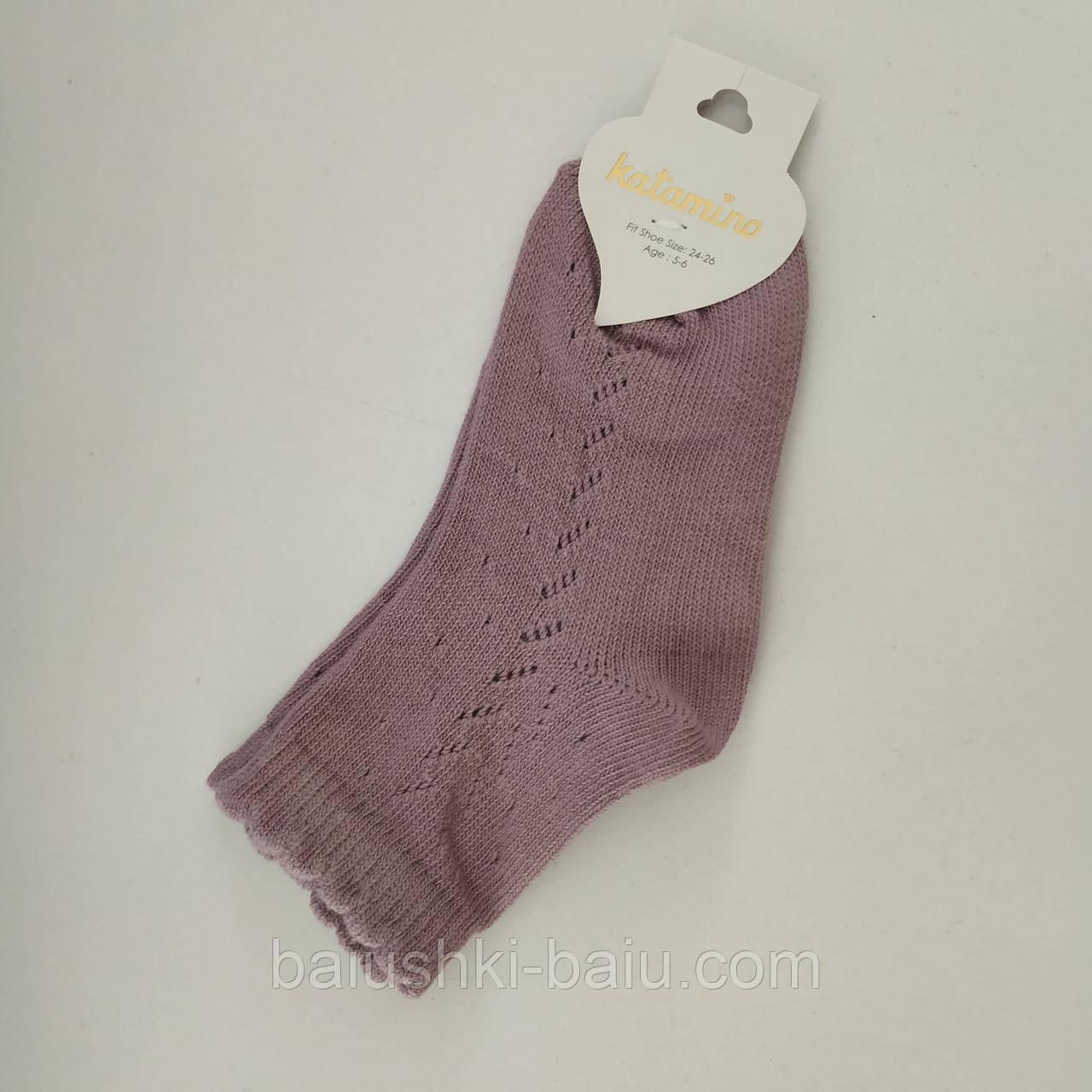 Детские хлопковые носки для девочки, р. 5-6 лет (Турция)
