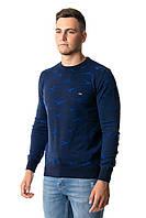 Молодежный свитер XL (48-50) Cottre Турция. Джемпер мужской приталенный для мужчин. Синий